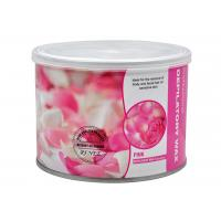 China Rose Flavour Depilatory Hair Removal 400g / Canned Solid Genuine Hot Wax Shaving With Epilator Use on sale