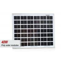 40 Watt Sungold Poly Solar Panel Powerful Solar Cell System For Homes