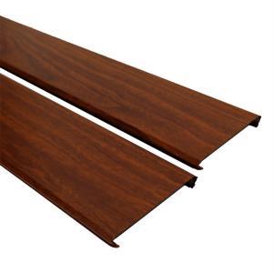 Wholesale Wood Color Aluminium Strip Ceiling / Aluminium False Ceiling Windproof from china suppliers