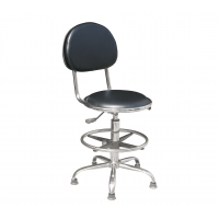 Wholesale Black Laboratory 430 X 400mm Chrome Plating Feet ESD Chairs from china suppliers