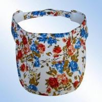 Wholesale 100 percent Cotton Poplin Visor with Printed Design from china suppliers