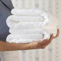 Wholesale Anti bacterial and thick white microfiber bath towel with super absorbent quality for hotel and home from china suppliers