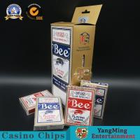 China 88*63mm Black Core Paper Playing Cards Red Blue Color Normal Type on sale