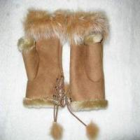 Buy cheap fur skin winter gloves from wholesalers