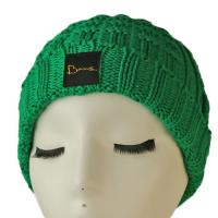 Wholesale High quality unisex customize logo green winter knitted  hats caps for fashion from china suppliers