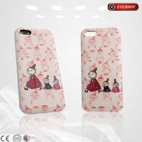 China Cute Girls Cartoon Silicone Cell Phone Cases Pink Silicone With Logo Printing on sale