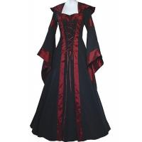 Wholesale Medieval Dress Wholesale XXS to XXXL Custom Made Maria Black&Bordeaux Medieval Renaissance Victorian Dress from china suppliers