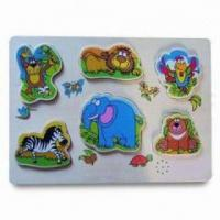 Best Promotional Gifts Wildlife Animals Music Wooden Puzzle HH-WT7101 wholesale
