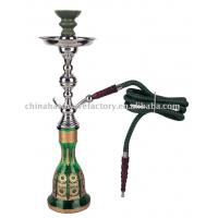 """Wholesale Hookahs and Shishas Phone: (852)3170-9544Email: info@chinahardwarefactory.comProduct ID:Egypt M greenDescription:This hookah comes with hand painting on glass bottle.10 different colors.H20.5"""" W6.2"""". from china suppliers"""