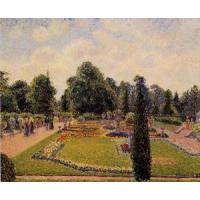 Impressionist(3830) Kew_Gardens_-_Path_between_the_Pond_and_the_Palm_House