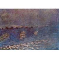 Impressionist(3830) Waterloo_Bridge,_Effect_of_Sun_in_the_Mist