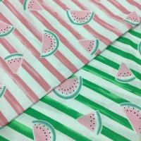Buy cheap cvc textile watermelon print wholesale cotton polyester fabric from wholesalers