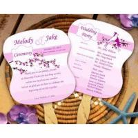 Wholesale Floral and Love Birds Wedding Program Fans from china suppliers