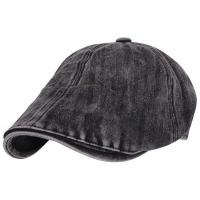 China Washed Cotton Casquette Flat Peaked Cap on sale