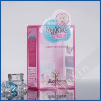 China cute design baby lotion plastic clear packaging box for sale