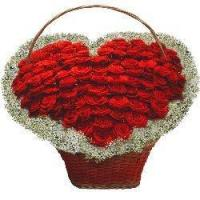Buy cheap More Than Words Heart-Shaped Roses Basket from wholesalers
