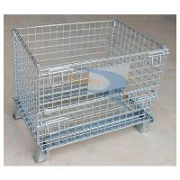Wholesale Galvanized Foldable Lockable Metal Wire Mesh Rolling Storage Bins from china suppliers