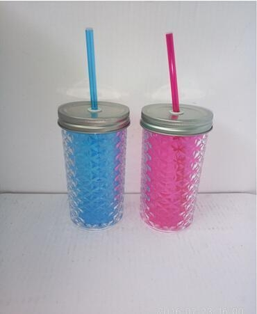 Quality Mason Jar to Go Cup Plastic Straw Fits in Most Cup Holders for sale