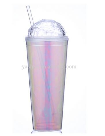 Quality New Arrivals Plastic Tumbler Customized Paper Insert Special Lid Diamond Lid 650ml for sale