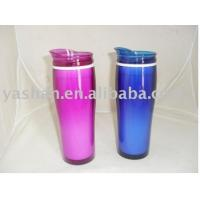 Wholesale 450ml 15OZ Promotion Coffee Cup,double Plastic Hot Coffee Thermos Mug Gift Water Bottle from china suppliers