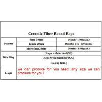 Wholesale Round Ceramic Fiber Rope from china suppliers