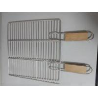Wholesale Non-Stick Wooden Handle BBQ Grill Wire Mesh, BBQ Grill Mesh, Wire Mesh Container from china suppliers