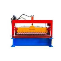 Industrial Metal Roof Panel Machine, Blue Color Roofing Sheet Forming Machine