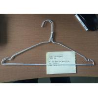 Wholesale Metal White Wire Hangers Q195 Steel Material For Laundry 16 / 18 Inches from china suppliers