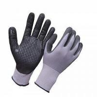 Ultra thin micro foam nitrile glove with dots on palm HNN682