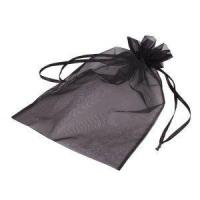 Wholesale black customized size small organza drawstring pouch from china suppliers
