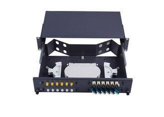 Quality Metal 2U Slide Type Simplex SC Fiber Optic Patch Panel 48 Port for Data Center for sale