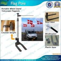 custom cheap durable outdoor display 6mtr Portable Car Wheel Aluminum Flagpole