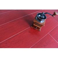 China Crystal Surface Bamboo Fiber Wooden Floor Tiles Fireproof Bright Wine Red on sale