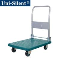 China Uni-Silent 150kgs Plastic Hand Trolley Trolley with Folding Handle LH150-DX on sale
