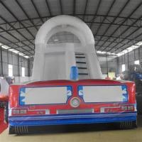 Wholesale Inflatable Fire Fighting Truck Slide Bounce House For Kids from china suppliers