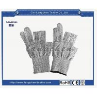 China Gloves 13G Dyneema Fingerless Cut Resistant Glove for sale