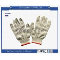 Buy cheap Gloves 10G 100% Cotton String Knit Glove Red Hemmed from wholesalers