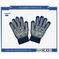 Gloves 10G 100% Acrylic PVC Dotted Glove for sale