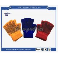 Gloves 10G Acrylic PVC Dotted Fingerless Glove for sale