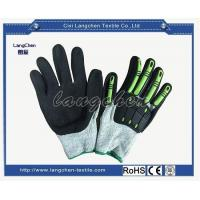 China Gloves 13G Dyneema Leather Patched Cut Resistant Glove for sale
