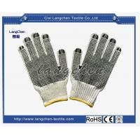 Gloves 7G Wollen Yarn Liner PVC Dotted Glove for sale