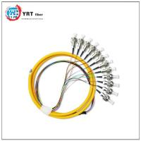 Fiber patch cords and pigtail FC-UPC 12 core Amored single mode pigtail cable--FC-UPC