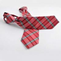 China Tie Polyester Jacquard Zipper Tie on sale