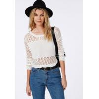 China New collection 2017 summer knitting lady blouse mesh cropped knitted jumper on sale