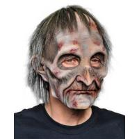 Halloween Masks Adult Exhumed Undead Zombie Corpse w/ attached Hair Halloween Costume Mask