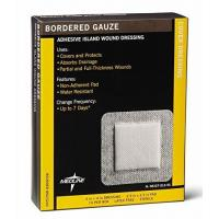 "Adhesive Bandages Sterile Bordered Gauze, 4"" x 4"" (Pack of 15)"
