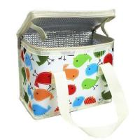 Lunch bag TEAMOOK Lunch Bag Insulated Lunch Box Cool bag 6 cans (beige birds)