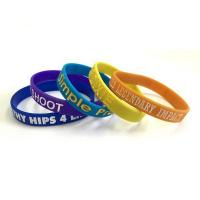 Wholesale Debossed Color Filled Silicone Wristband from china suppliers