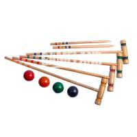 4 Players Professional Wooden Croquet Set