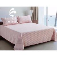 Wholesale Hot Sale Stripe Design Modern Satin Bed Sheet Set 5 Stat Hotel from china suppliers